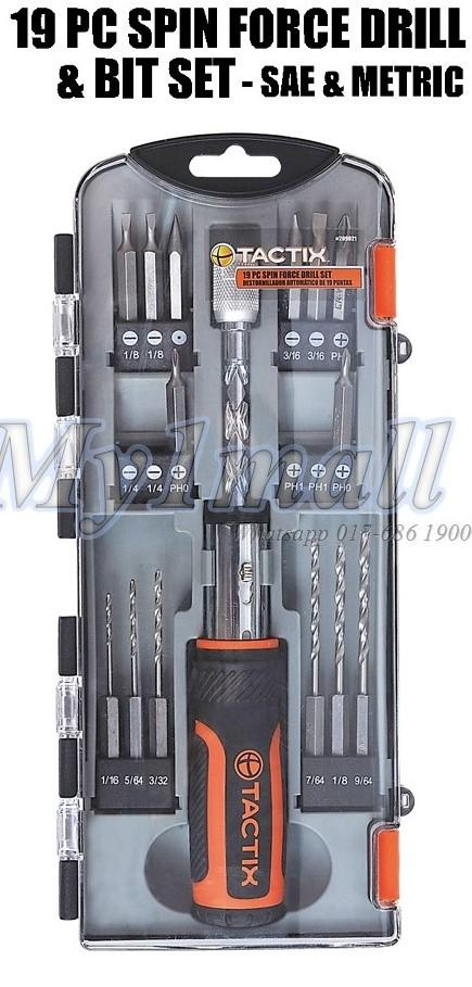 TACTIX 209021 SCREWDRIVER 19PC SPIN FORCE