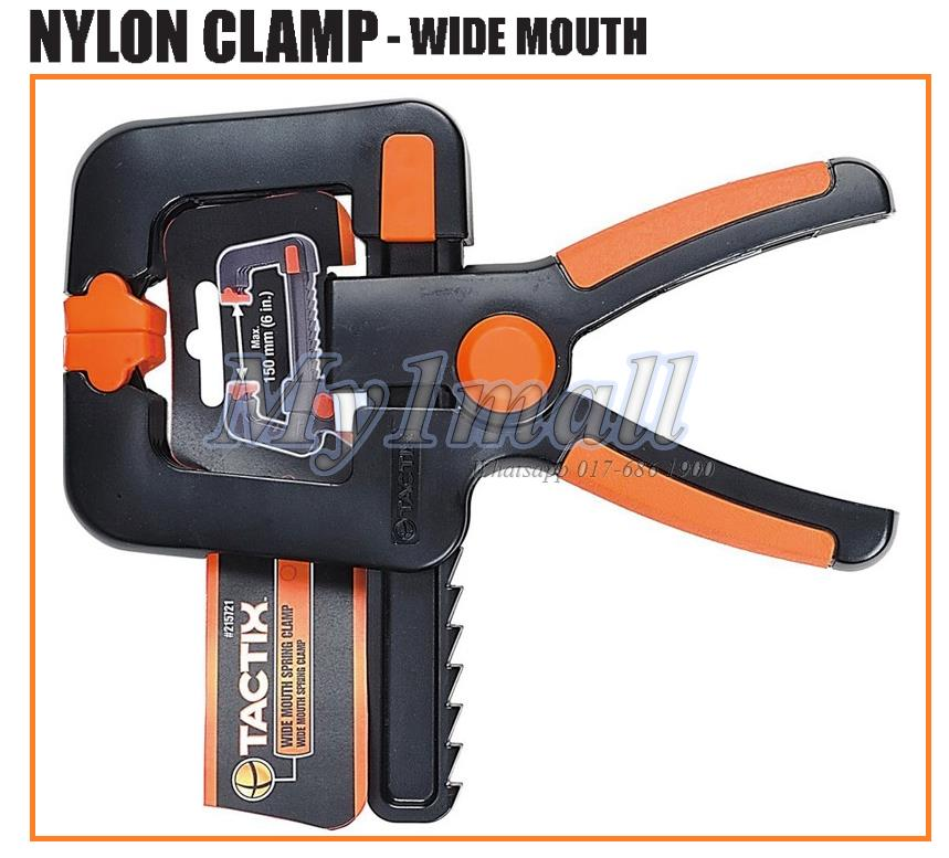 TACTIX 215723 CLAMP WIDE MOUTH 100MM/4""