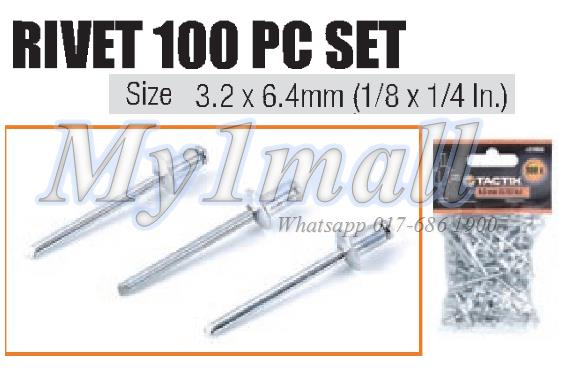 "TACTIX 217053 RIVET 3.2MM(1/8"")X6.4MM(1/4"")"