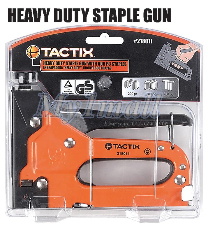 Tactix 218011 Heavy Duty Staple Gun With 600pcs Staples