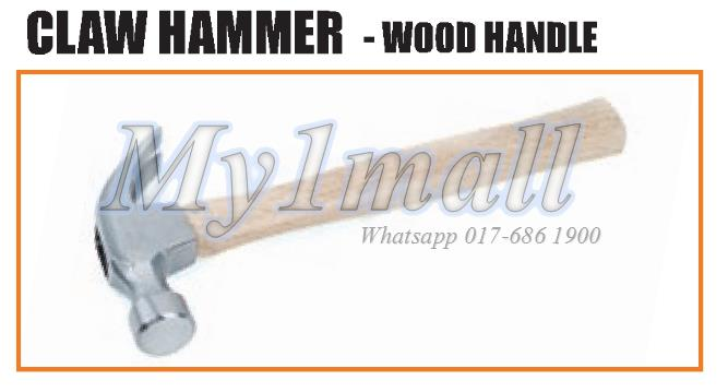 TACTIX 221215 HAMMER CLAW 570G(20OZ)WOOD HANDLE