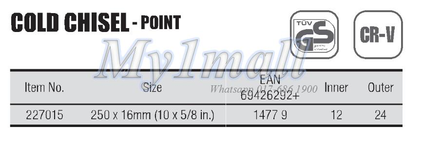 TACTIX 227015 CHISEL COLD POINT 250x16MM