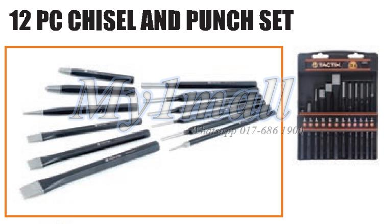 TACTIX 230112 12PC CHISEL & PUNCH SET