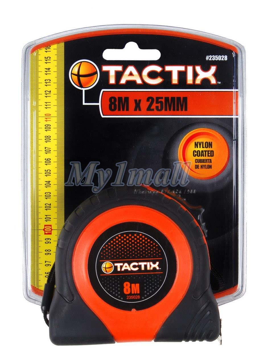 TACTIX 235028 TAPE MEASURE 8MX25MM - MEDIUM