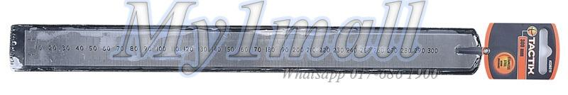TACTIX 239212 RULER STAINLESS STEEL 300MM/12""