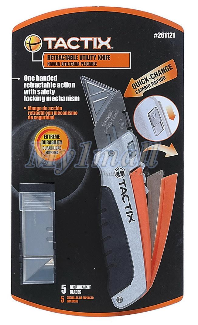 TACTIX 261121 KNIFE UTILITY SLIDE WITH 5PC