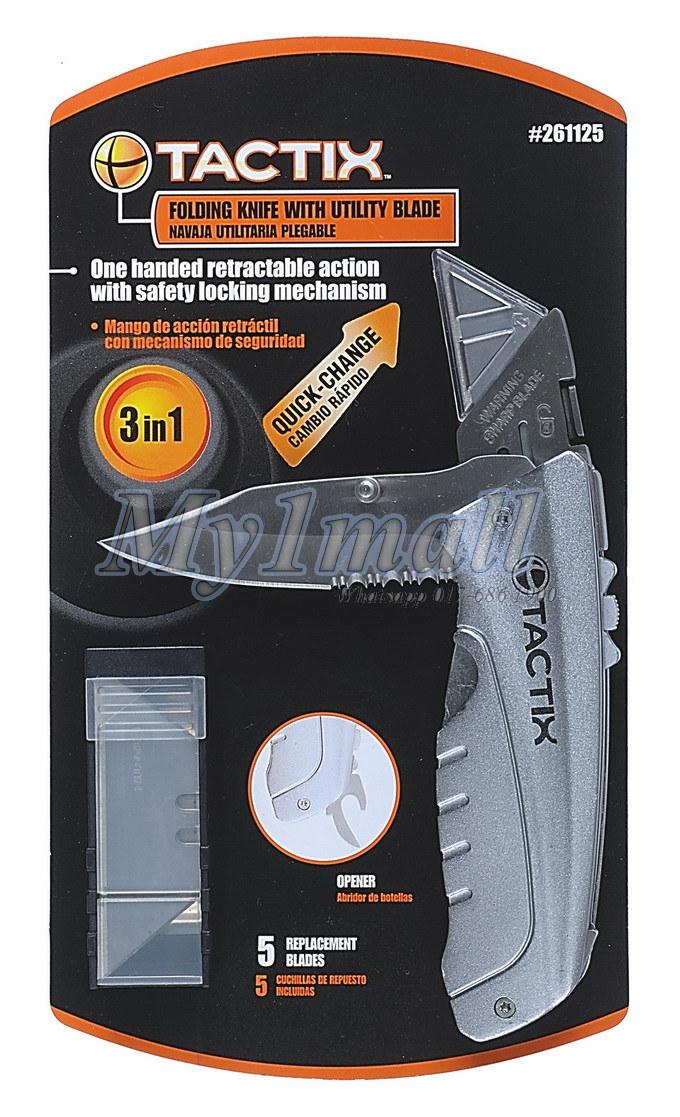 TACTIX 261125 KNIFE DUAL FUNCTION FOLDING WITH
