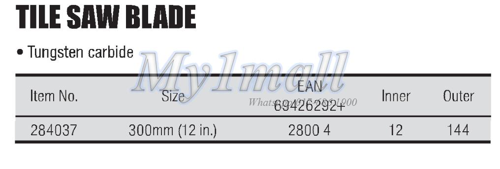 TACTIX 284037 SAW BLADE TILE 300MM/12""