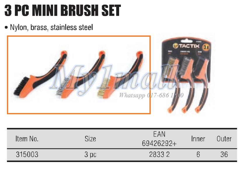 TACTIX 315003 3PC MINI BRUSH SET