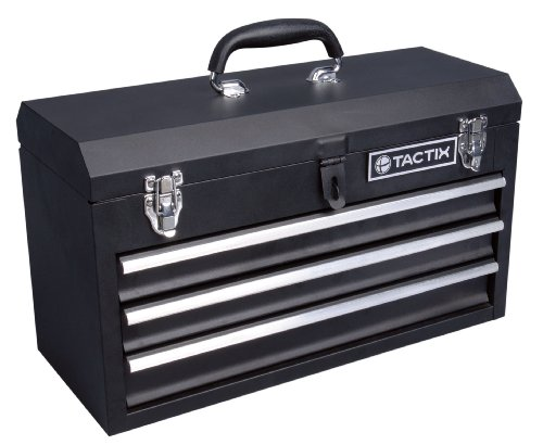 Tactix 321102 3 Drawer Steel Portable Tool Box, 52cm/from USA