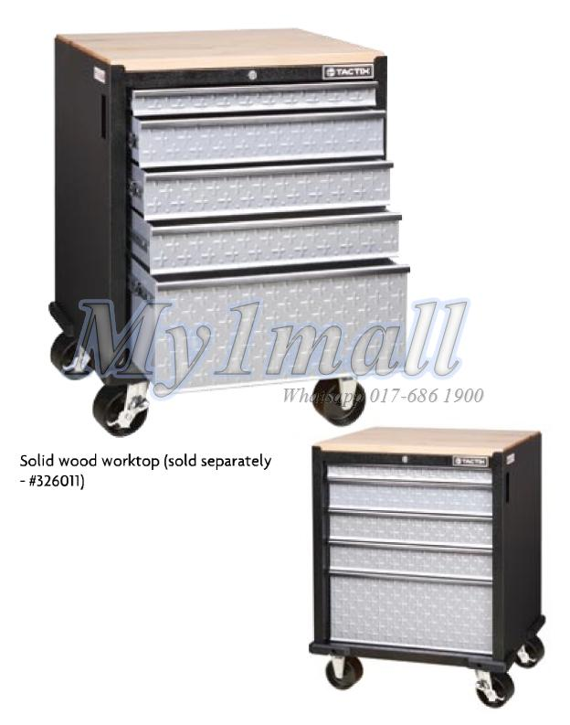 TACTIX 326212 ROLLING CABINET 5 DRAWER 67CM