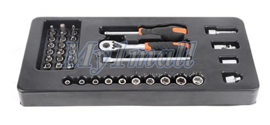 TACTIX 327509 38pcs Ratchet Socket and Bit Set