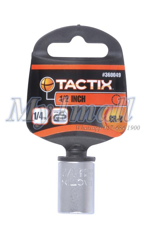 TACTIX 360046,47,48,49 SOCKET 1/4'DR 12PT-SET B