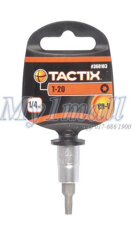"TACTIX 360160 - 66 BIT SOCKET 1/4""DR TORX 8,10,15,20,25,27,30,40"