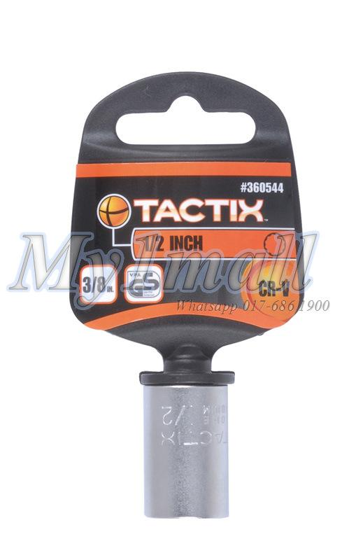 "TACTIX 360566,67,68,69 SOCKET 3/8""DR 12PT - SET E"