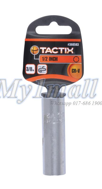 "TACTIX 360581,82,83 DEEP SOCKET 3/8""DR 6PT - SET A"