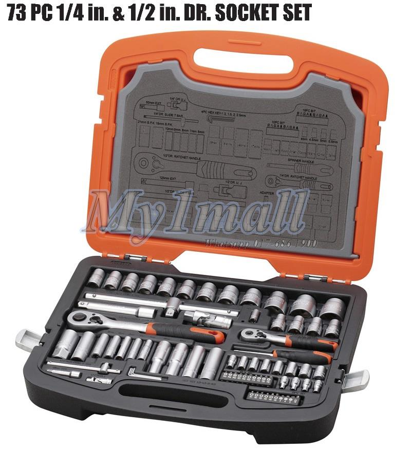 TACTIX 365055 73PCS  Ratchet Socket Tool Set