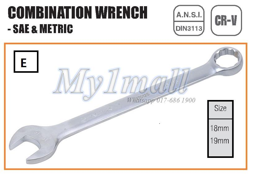 TACTIX 370027,29 - 18mm 19mm SET E COMBINATION WRENCH