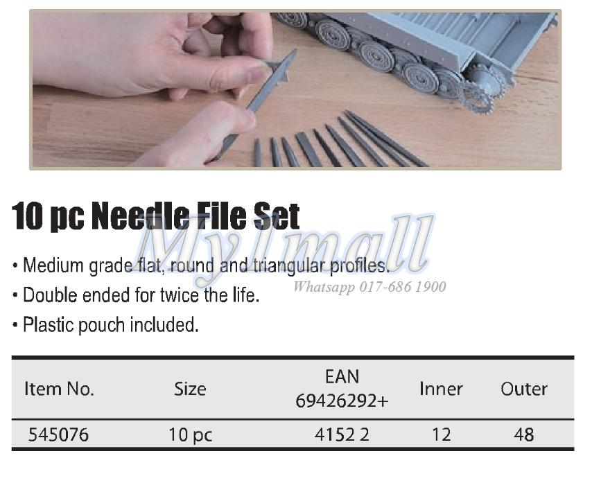 TACTIX 545076 NEEDLE FILE 10PC