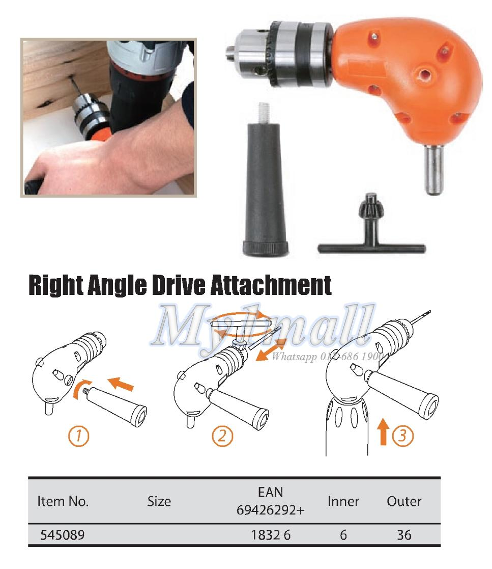 TACTIX 545089 RIGHT ANGLE DRIVE ATTACHMENT 3/8""