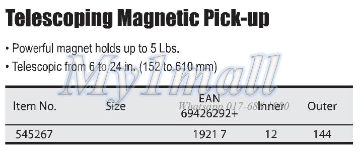 TACTIX 545267 TELESCOPING MAGNETIC PICK-UP TOOL
