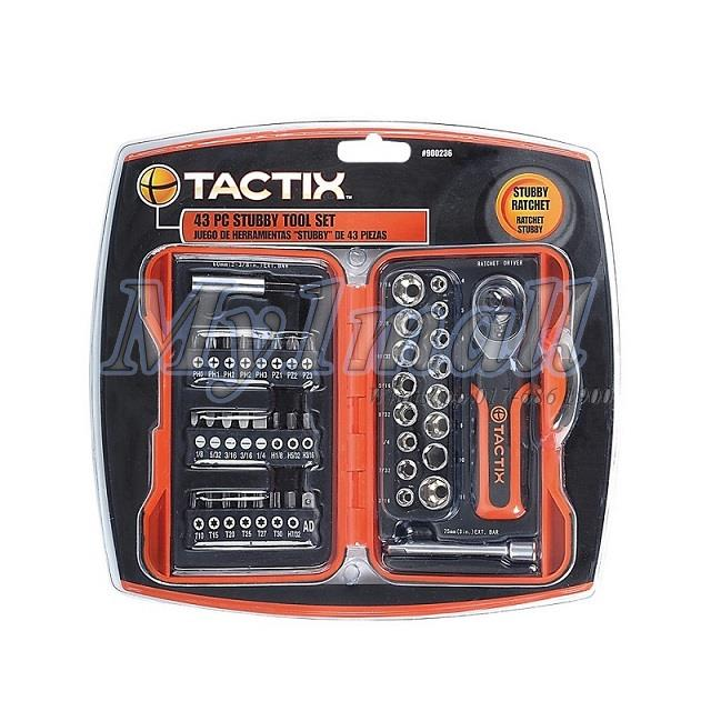 TACTIX 900236 43PC MINI RATCHET SET - SAE