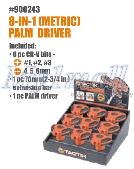 TACTIX 900243 8PC PALM DRIVER - METRIC