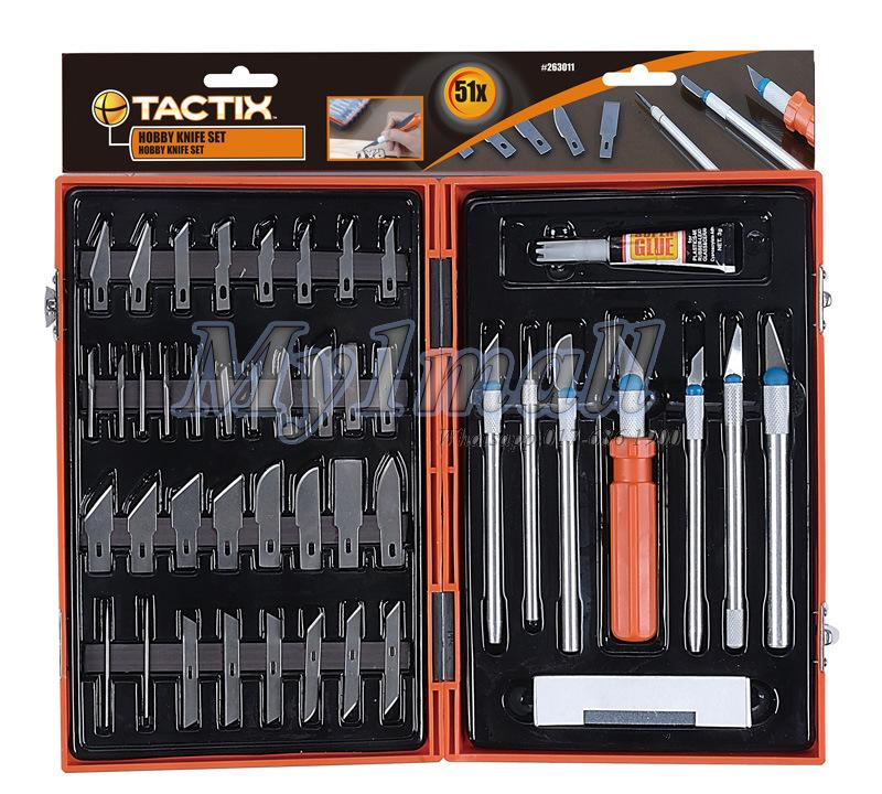 TACTIX HOBBY CARVING KNIFE SET 51PC