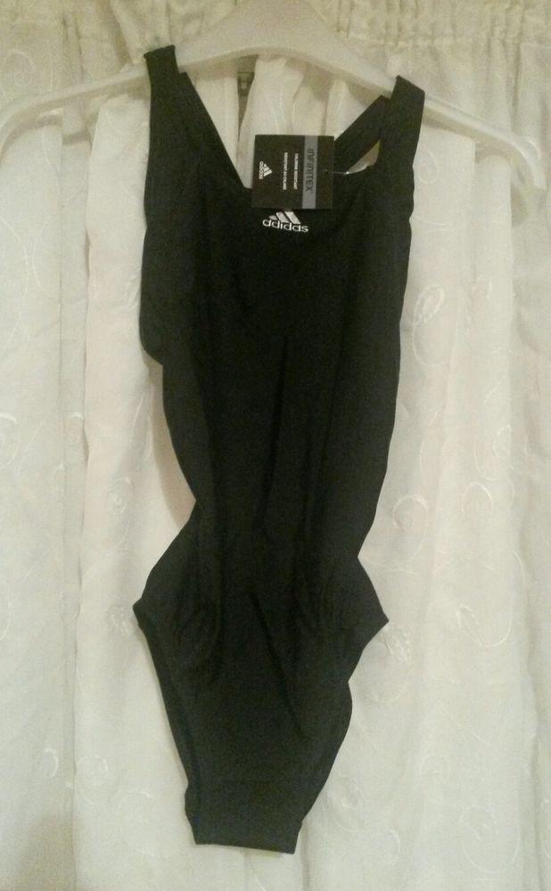 NEW with Tag: Adidas Ladies Infinitex Black Swimsuit Size 28 (UK)
