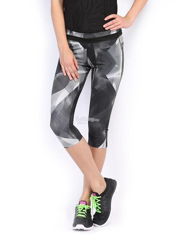 NEW with Tag: Puma Charcoal Printed 3/4 Tights XS (Int'l)