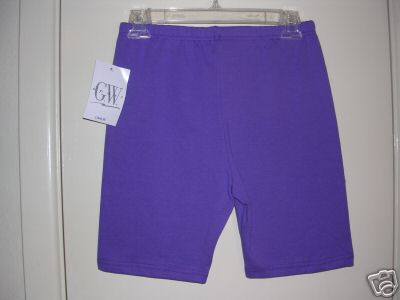 <B>NEW with Tag: Women's Purple Bike Workout G.W. Sport Shorts S (US)</B>