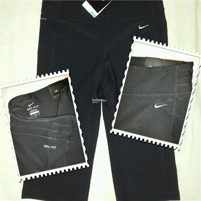 NEW with Tags: Nike Ladies Black Capri Size M