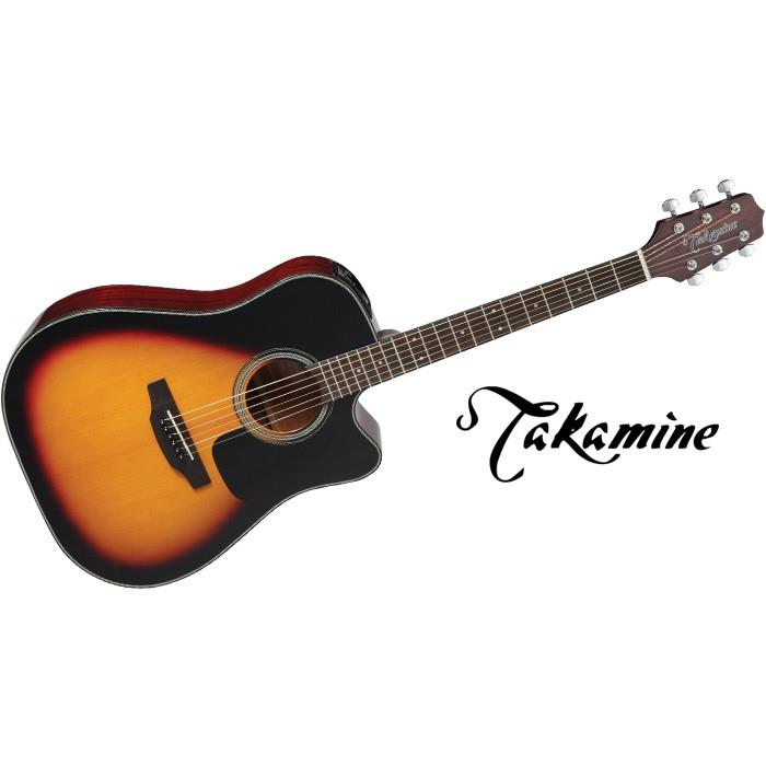 TAKAMINE D2N ACOUSTIC GUITAR BROWN SUNBURST