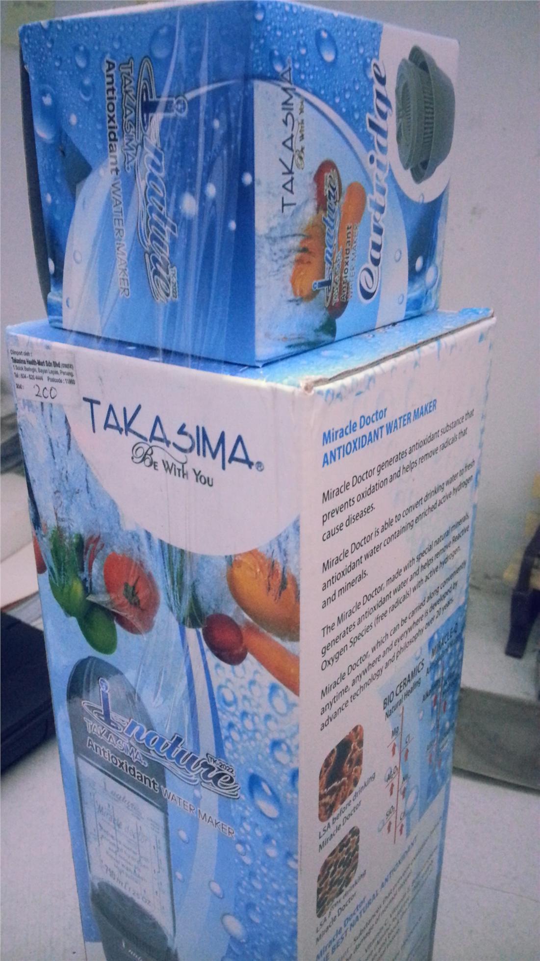 Takasima Anti Oxidant Water Maker. ‹ ›