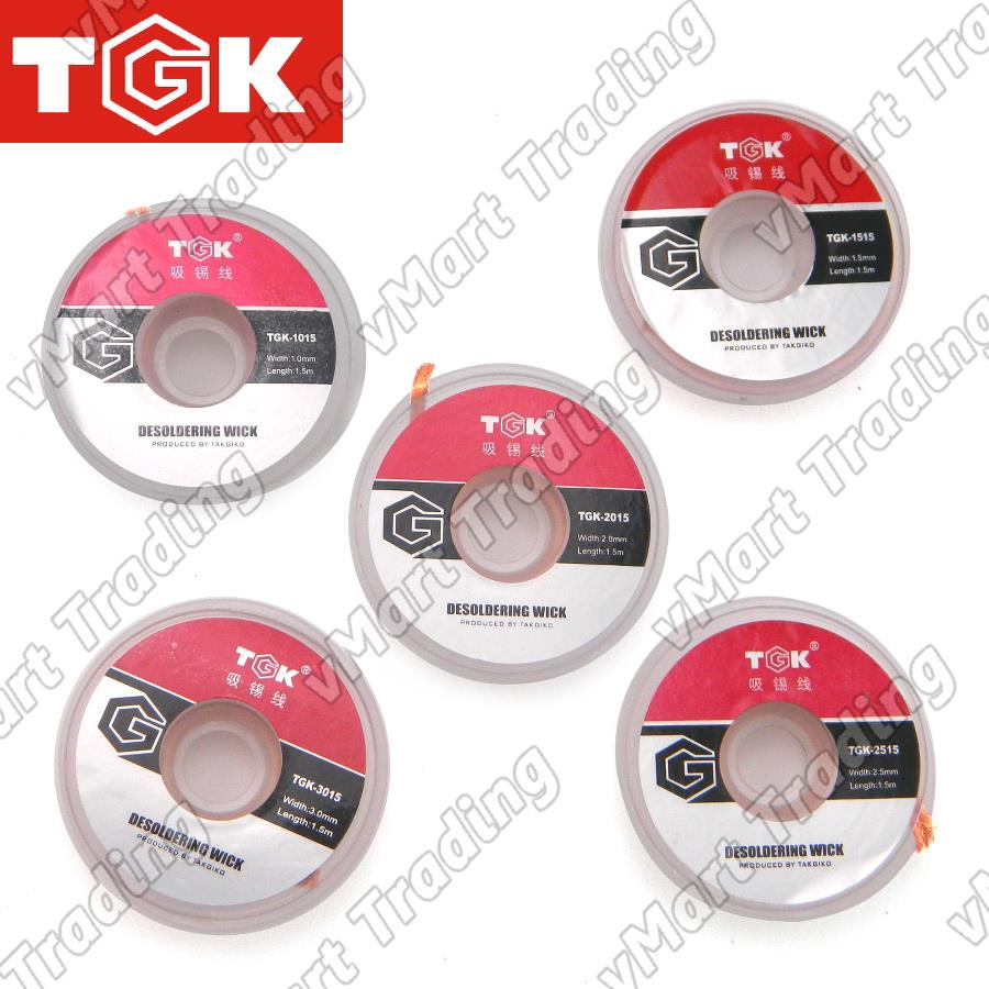Takgiko TGK Series Desoldering Wick [1 set 5 pieces]
