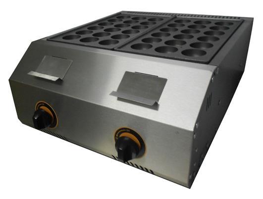 Takoyaki Machine Gas 2 Plate Fr 1136 R 18 Hole