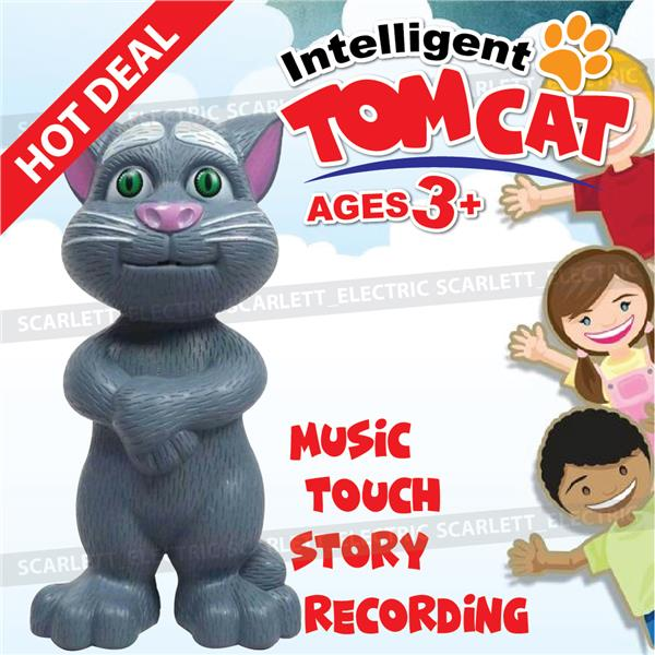 Talking Tom Cat Intelligent Touch Record Story Tell Music Sing Respon