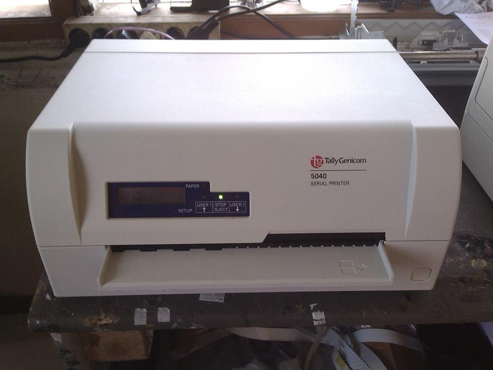 TallyGenicom 5040 passbook printer  dot-matrix