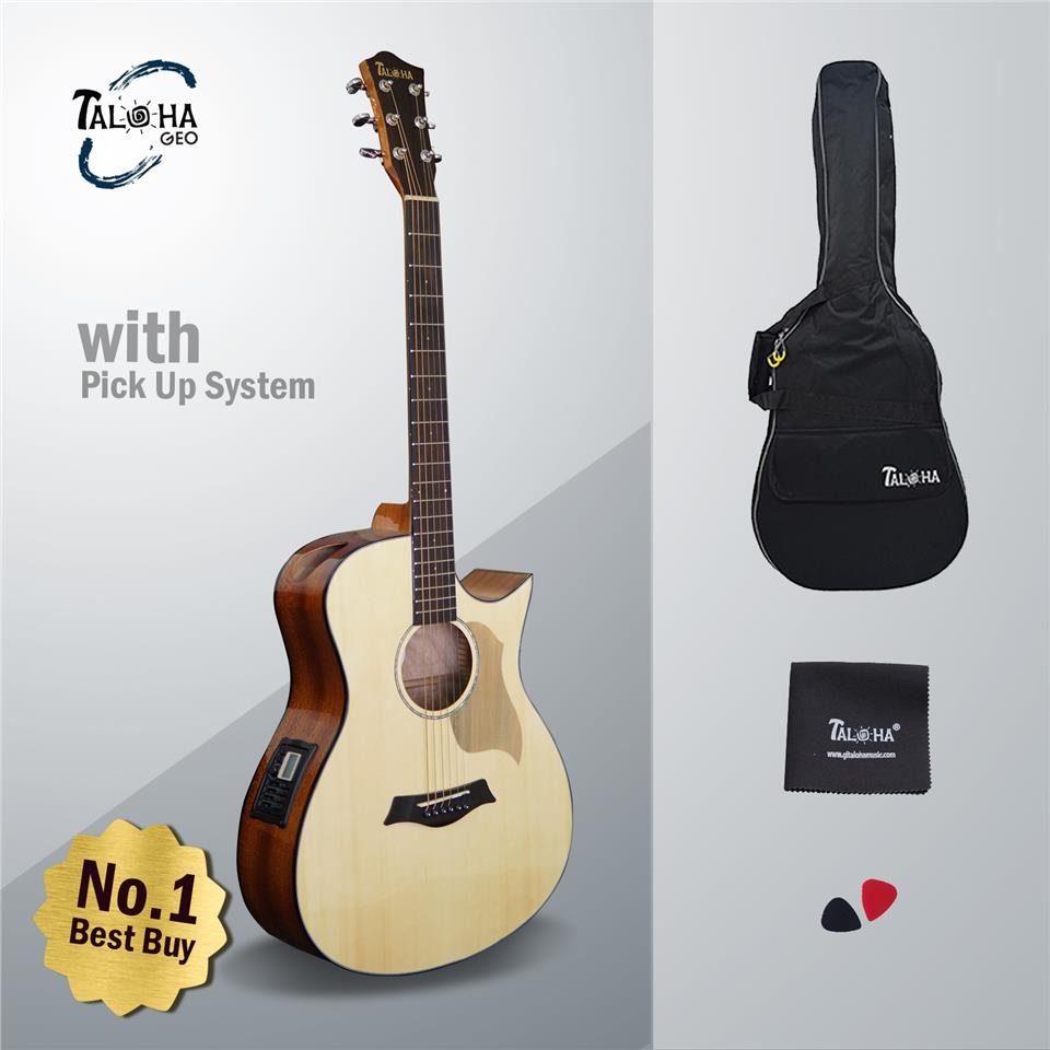 Taloha Geo Series G-101 41 Inch Acoustic Guitar Package