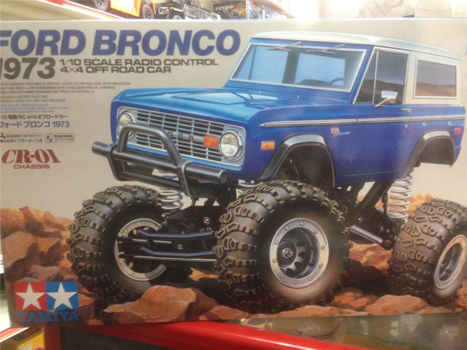 Tamiya 1/10 rc crawler ford bronco 1973 CR01 chassis