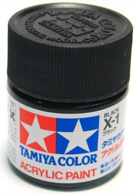 Tamiya Acrylic Paint X-1 Black (10ml)