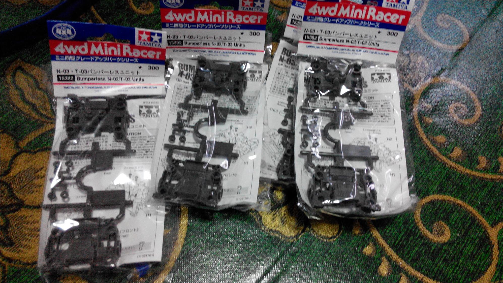 Tamiya Mini 4WD - 15382 Bumperless N-03/T0-3 Units. ‹ ›
