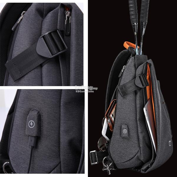 TANGCOOL MEN USB TABLET PC CHEST ANTI THEFT CROSSBODY Shoulder Bag