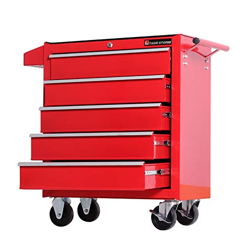TANKSTORM Tool Chest Heavy Duty Cart Steel Rolling Tool Box 5 Drawer Cart (TZ3