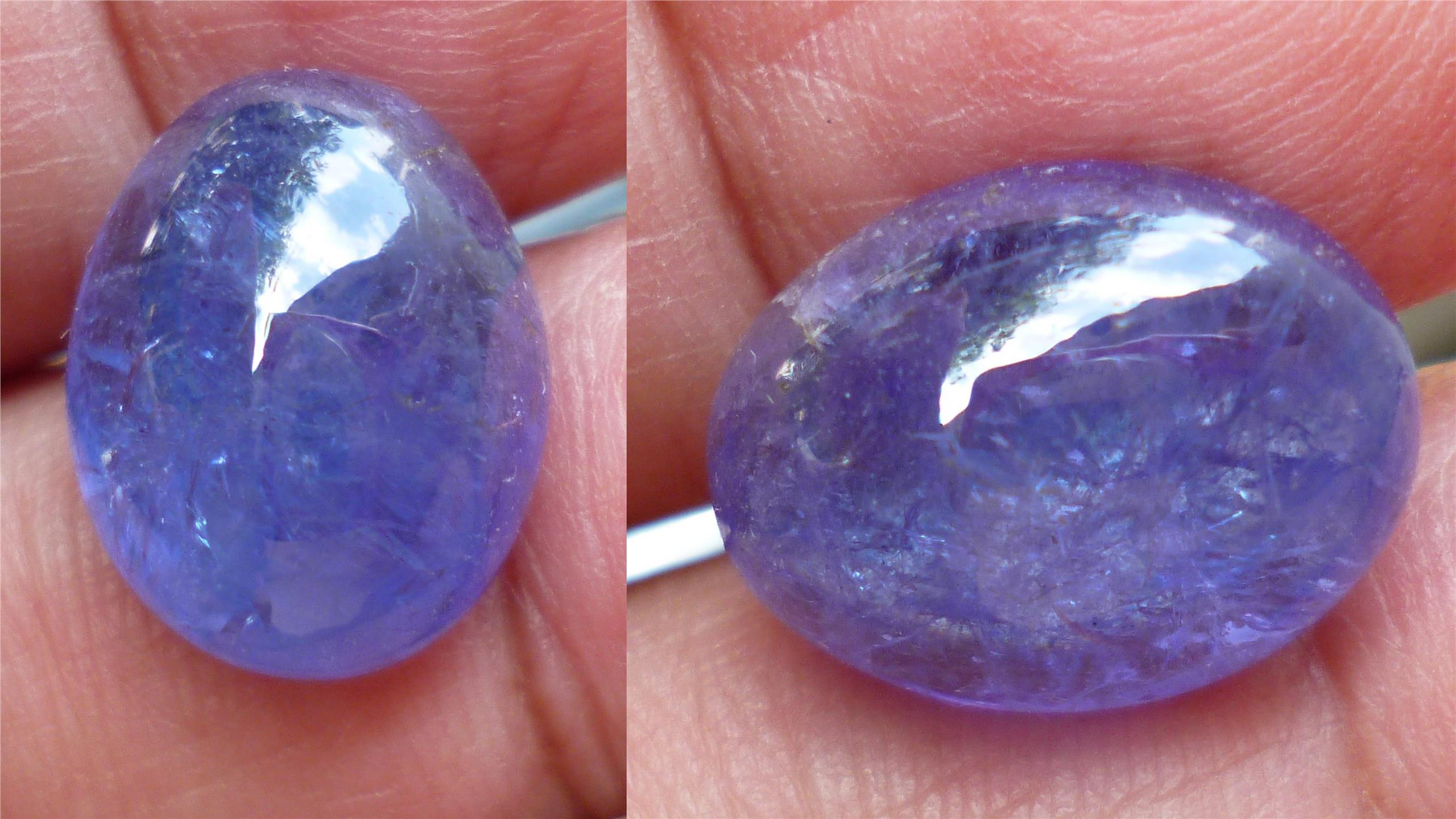 TANZANITE PURPLE COLORED GEMSTONE