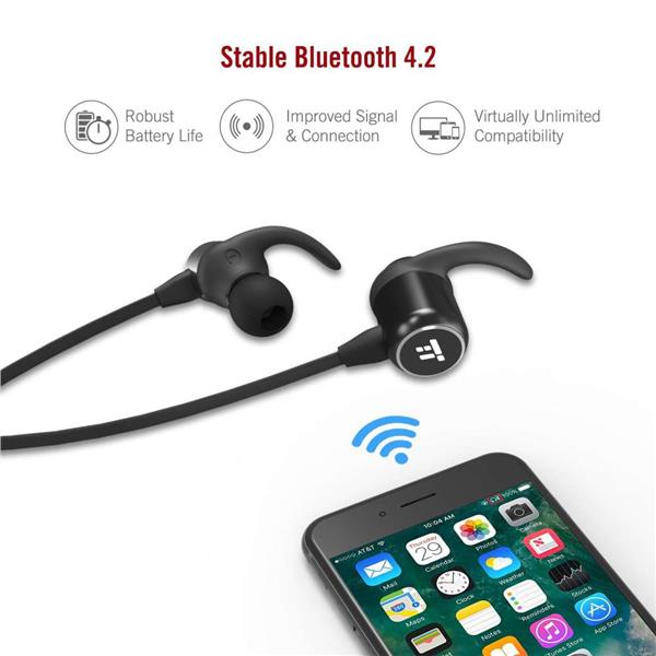 TaoTronics BH035 Magnetic Wireless Sports Headphones Bluetooth 4.2