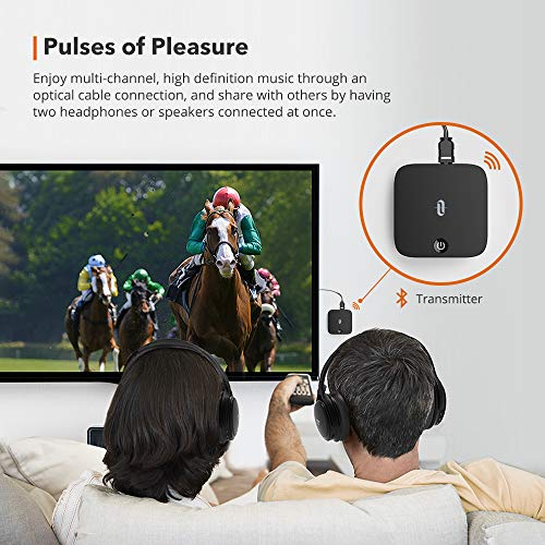 TaoTronics Bluetooth 5.0 Transmitter and Receiver, Digital Optical TOSLINK and
