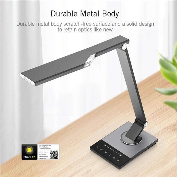 TaoTronics DL16 12W Stylish Metal Surface Desk Lamp With USB Port