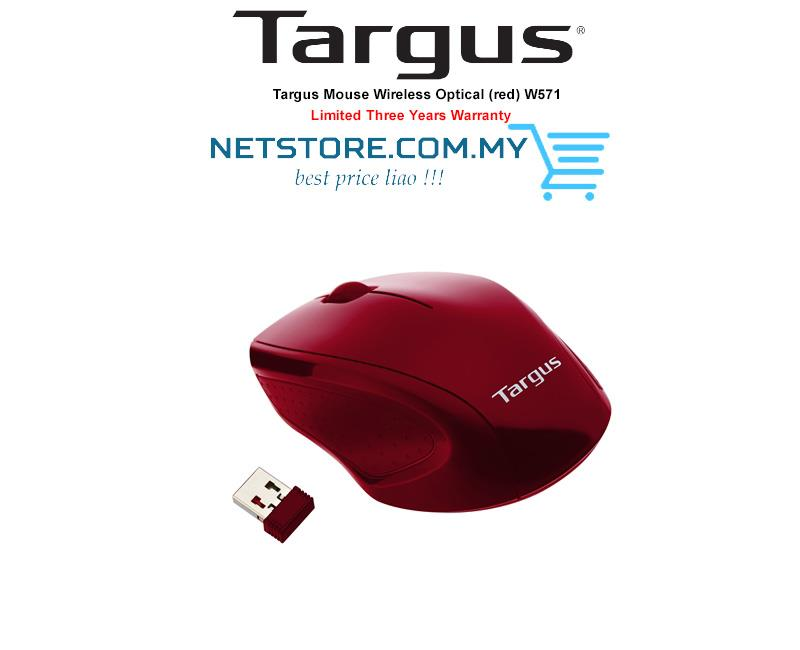 Targus Mouse Wireless Optical (red) AMW57102AP 1600 DPI