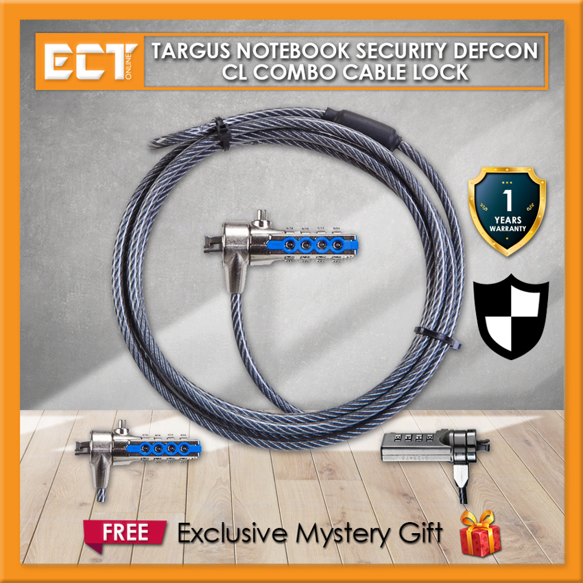 Targus Notebook Security DEFCON CL Combo Cable Lock (PA410BX-MY)